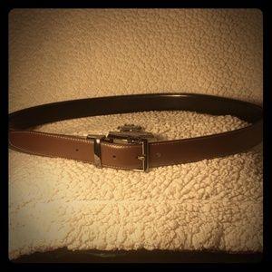 Basic Editions Reversible belt sz 38 in blk/brn